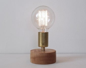 Table lamp, desk lamp, brass light, industrial lighting