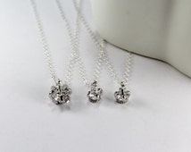 Silver Crown Necklace.Set 2,3,4,-Three Sisters Neckalce,Matching Little Girls Gift.Mother And Daughter Necklace 3 Kids,3 Baby.Three Princess