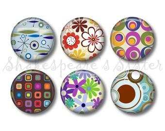 Retro Kitchen - Fridge Magnets - 6 Magnets - 1.5 Inch Magnets - Cute Fridge Magnets