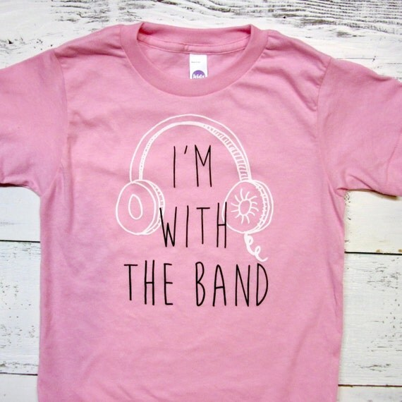 I M With The Band Toddler Shirt Music Band Kids Tshirt