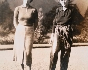 Vintage Photo..The Outdoorsy Type..1930's Original Photo, Old Photo Snapshot, Vernacular Photography, Womens Fashion Photo, Social History