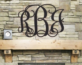 Wood Monogram Wall Decor wooden monogram wall hanging | etsy