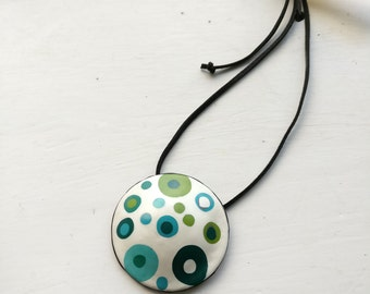 GIFT FOR HER, Polymer Clay Jewelry, Clay Necklace, Statement Necklace, Handmade Jewelry
