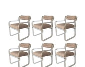 Lucite Armchairs, Set of 6