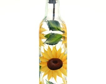 Sunflowers Olive Oil Bottle