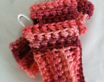 Crocheted Fingerless Gloves - Ready to Ship