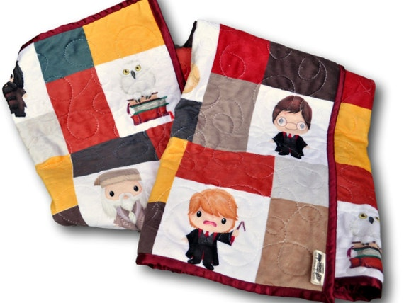 Personalized Harry Potter Baby Quilt by OutOfCharacterQuilts