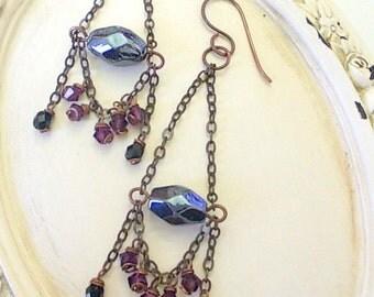 Chandelier earrings dark style