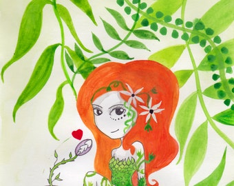 Ana Dess in Poison Ivy - Illustration