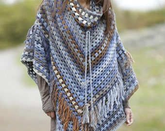wool Poncho, neckband removable, 100% hand made, gaucho poncho. Choose your color e size!