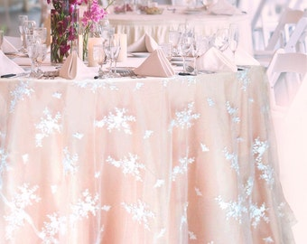 Lace Tablecloth MADE TO ORDER, White Lace Overlay and Satin Table Cloth for Wedding Cake Table Sweetheart Table Bridal Shower