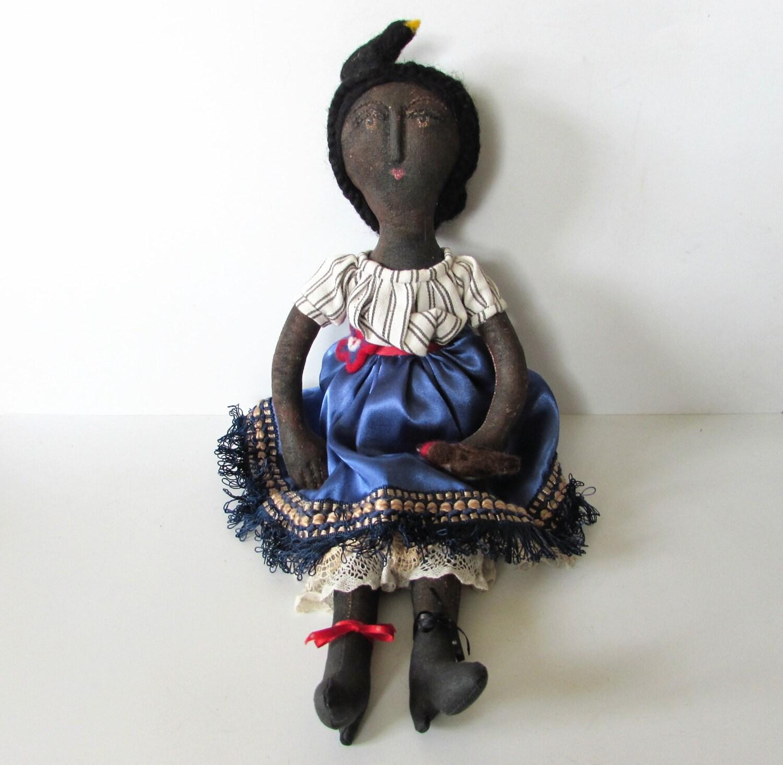 An Original Rag Doll By Little Wren House Factory