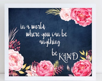 Be Kind Digital Wall Art, Printable, Acts of Kindness