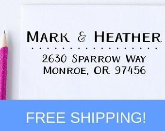 Return Address Stamp - Custom Self Inking Address Stamp - Personalized Address Stamp - Wedding Stamp  (D114)