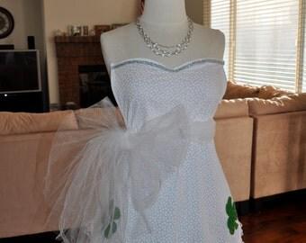 White Irish Wedding Bridal Apron (Playpron)