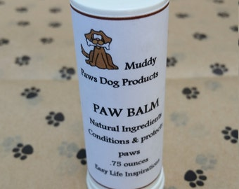 All Natural Muddy Paws Paw Balm-For dry and sore dog and cat paws-Paw Salve-Paw Butter-Paw Repair-Soothing-Dog and Cat Balm-Relieve Sore Paw