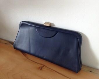 Clutch Bag in Navy Blue
