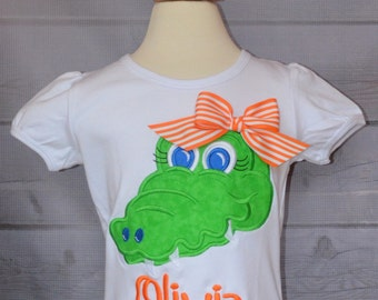 Personalized Football Gator Applique Shirt or Onesie