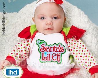 Christmas Applique Design -- Santas Lil Elf Applique - Santa's Elf Applique -- Christmas Applique Design CHR019