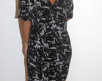 Black  open-back dress