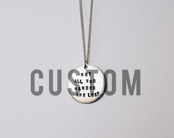 Custom Quote Necklace