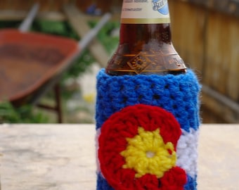 Colorado Flag Bottle Cozy