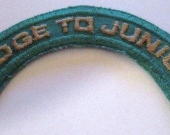 "Vintage 1977-1987 Girl Scout ""Bridge to Juniors"" Badge"