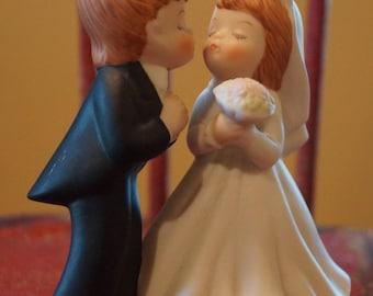 Vintage 1983 Lefton Porcelain Bride and Groom Figurine/Cake Topper 03567