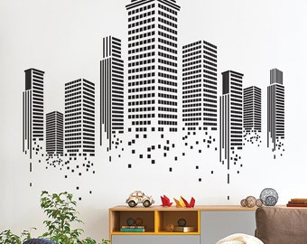 Urban Wall Sticker   Office Wall Decal   Wall Graphics   Vinyl Wall Sticker