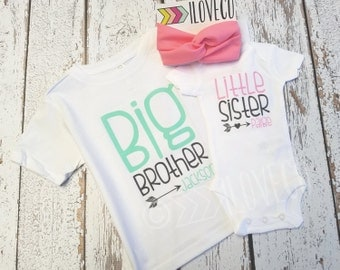 Big Sister Little Brother Outfit  / Beanie Optional / Photo Prop / Cousins / Brothers / Sisters