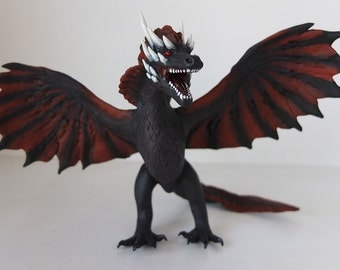 "Drogon ""The Winged Shadow"" - OOAK Game of Thrones Dragon"