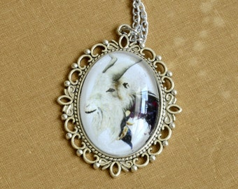 Goat Totem Pendant, Wearable Art