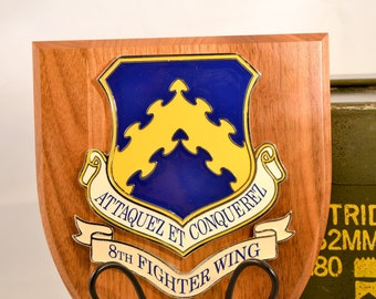 8th Fighter Wing Plaque - ACC Militaria - Air Force Collectible - USA Collectible - Attaquez et conquerez