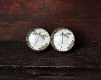12 mm Stud Earrings, bronze