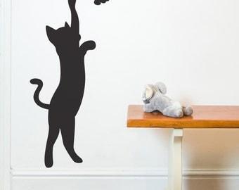 SALE - WHITE CAT - Cat - Wall Sticker - Decals - Wall tattoo - Home decor - Nutmeg