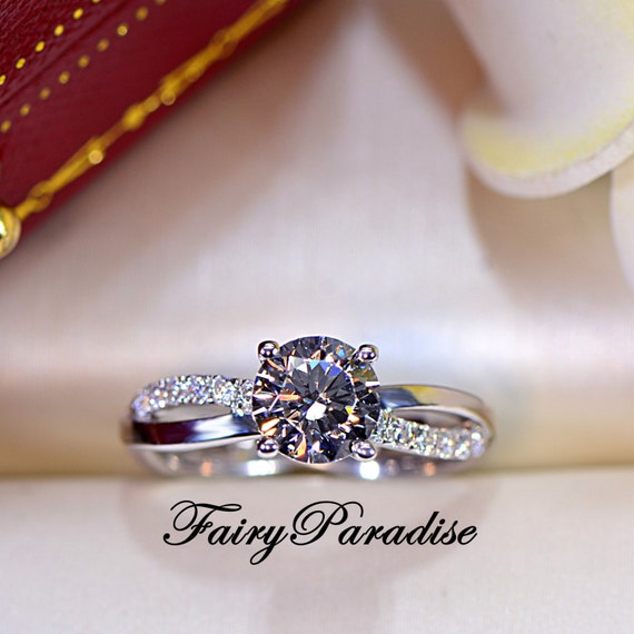 1 carat twisted infinity engagement ring promise ring for