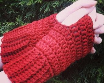 Handmade Fingerless Gloves Wristers Wristwarmers Armwarmers Ladies Women's Girls Teens Trendy Crochet Soft Acrylic Yarn