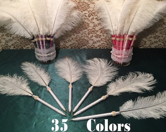 6 FEATHER PENS Girls Birthday Party Favors for Women Teens Girls Adult Birthday Party Favors Teen Party Favors Birthday Party Decorations