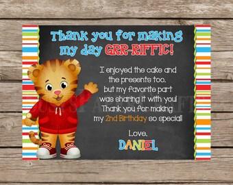 Daniel Tiger Made to Match Thank You Card, Digital File, You Print