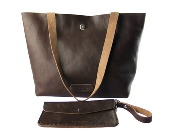 Leather tote bag/weekender bag/Leather bag/gift for her/everyday bag/leather shoulder bag/everyday tote/carry all bag/large tote bag/shopper