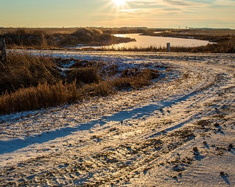 Winter Sunset, Landscape Photography, Archival Giclee Print, Nature Photo - Multiple Sizes Available
