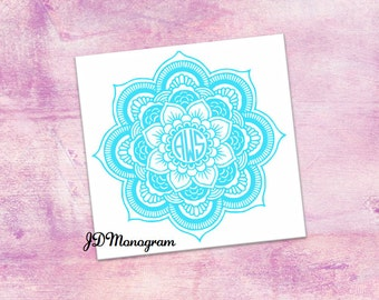 Mandala Monogram Sticker