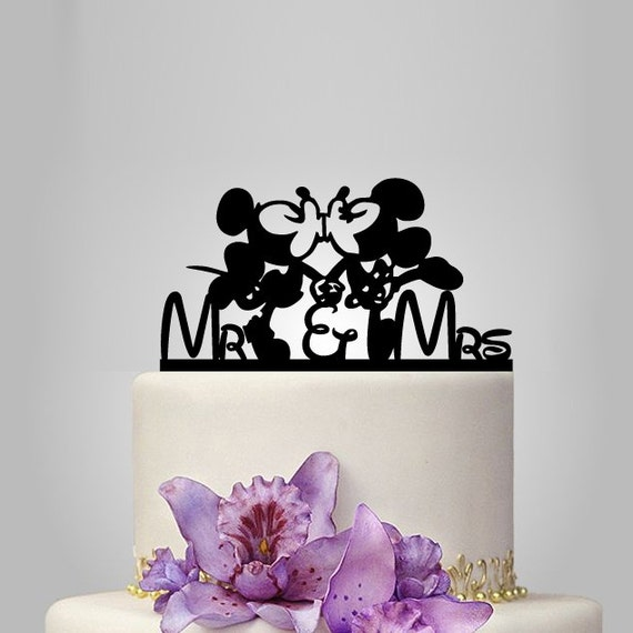 mickey and minnie silhouette wedding cake topper mickey and minnie mouse wedding cake topper mr and by 17345