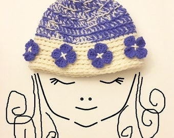 Crochet Patterns * HEIDI HAT * Instant Download pdf # 509 * Baby Toddler Child Teen Adult Sizes * easy * Beanie * Cap * Girls Hat Pattern