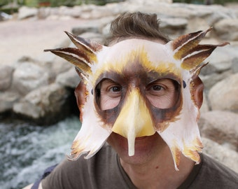 Leather Gryphon Mask