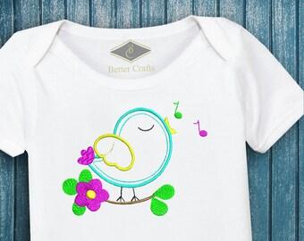 50% OFF Singing Bird | Machine Embroidery Applique Design 4 Sizes