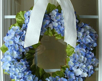 Blue Hydrangea Wreath/ Periwinkle Blue/ Spring/ Summer/ Mother's Day Gift