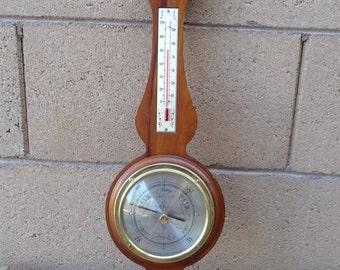 Vintage Airguide Banjo Barometer Thermometer Hygrometer Weather Station, Mid Century Weather Station,