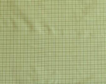 """Mint Green/White Tissue Taffeta Checks 100% Silk Fabric, 44"""" Wide, By The Yard (SD-692D)"""