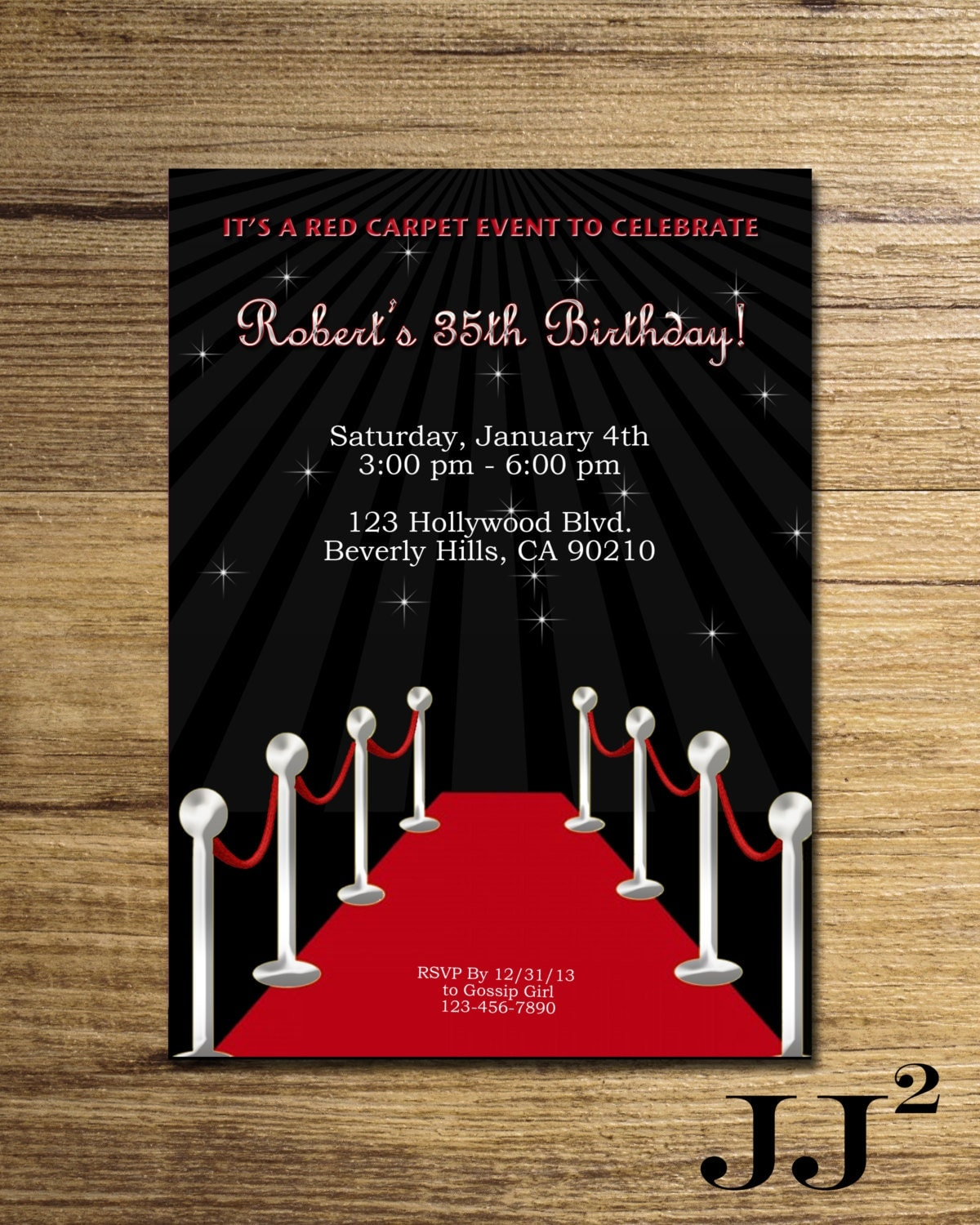 Red carpet birthday – Red Carpet Party Invitation
